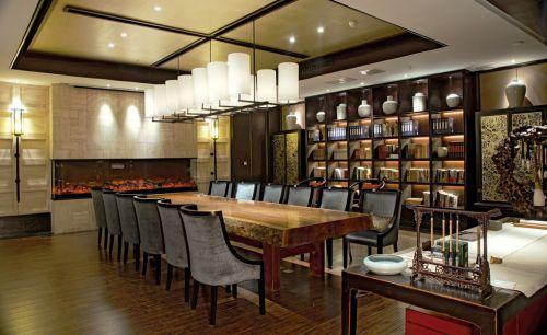 豪华的美式宽敞餐厅设计