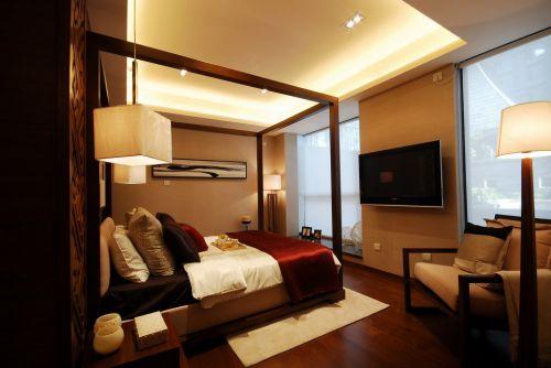 黄色优灯光的舒适卧室效果图