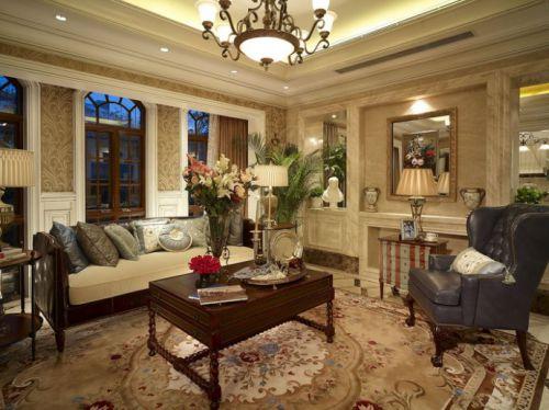 古典美式客厅装修设计