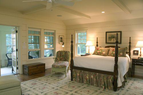 美式田园卧室吊顶装修效果图
