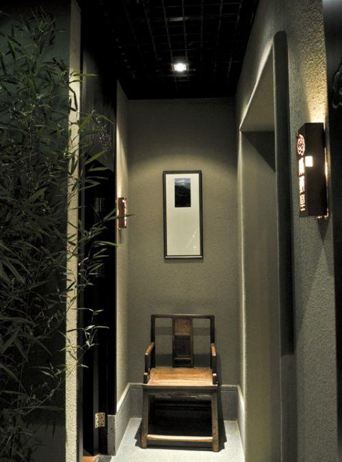 灰绿色的玄关走廊效果图