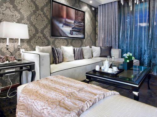 现代风格客厅实景设计