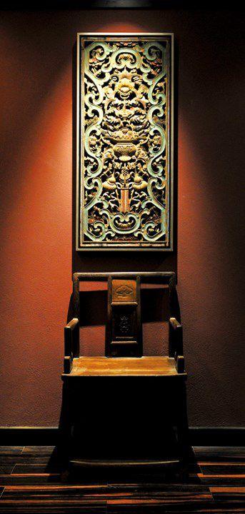 古典玄关座椅效果图