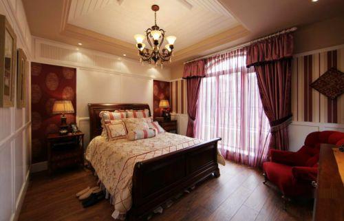 美式婚房卧室装修图