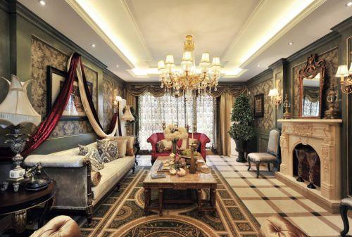 美式豪华古典风格室内装饰