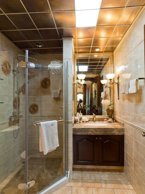 欧式古典主卧卫生间装修设计