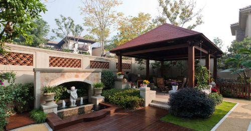 古典美式别墅花园效果图