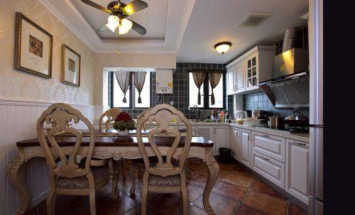 简欧风格厨房餐厅二合一设计