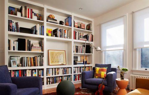 简欧风格书房装修设计图片
