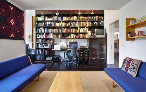 美式书房收纳设计图片