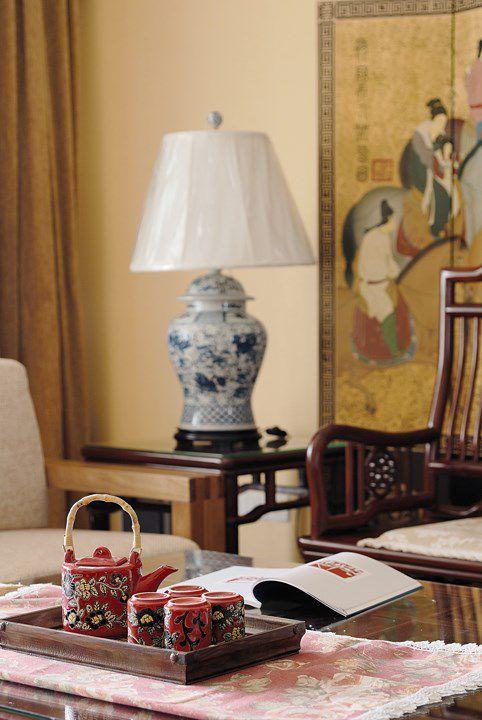中式风格古典茶具效果图