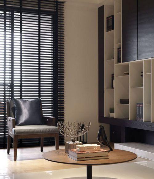 现代简约风格客厅书房设计