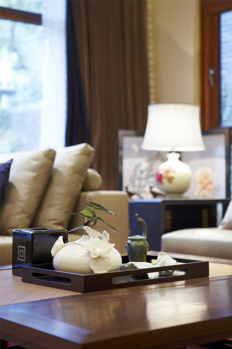 中式风格客厅茶几效果图