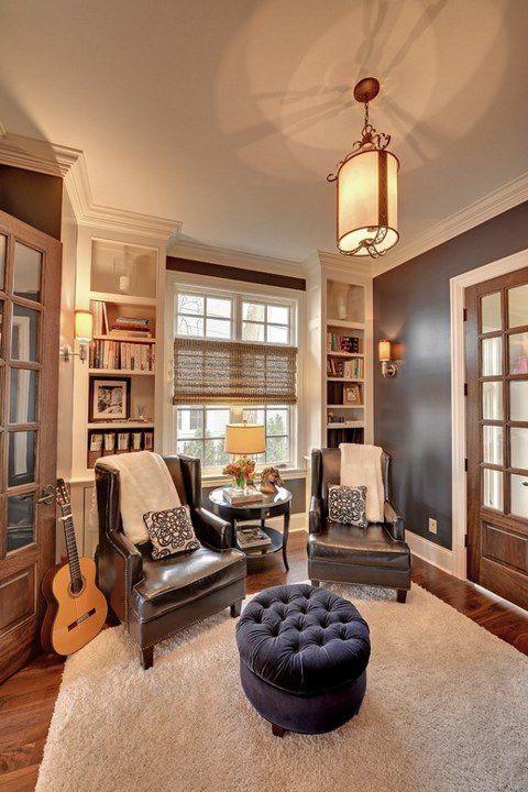 简约美式风格书房门窗设计