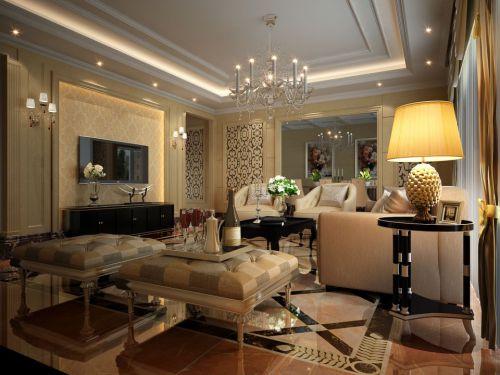 欧式古典客厅装修实景图大全