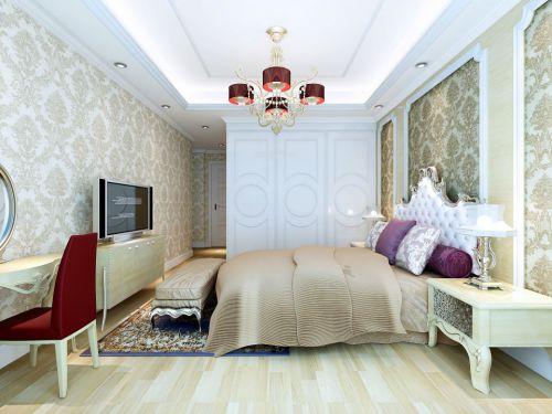 简欧风格小卧室装修效果图