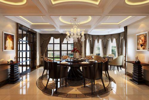欧式古典餐厅设计效果图