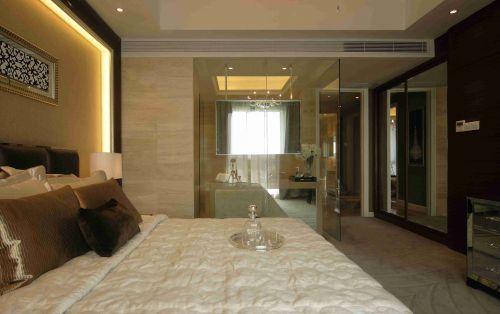 简欧卧室玻璃隔断装修设计