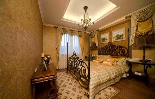 美式乡村卧室吊顶装饰效果图