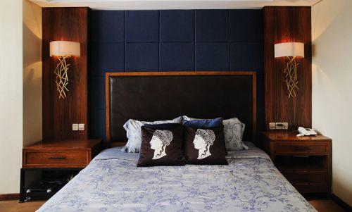 简约的中式风格卧室效果图