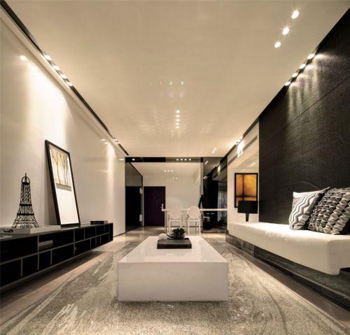 现代简约装修样板房客厅设计