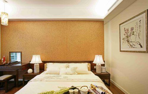 新中式风格卧室背景墙装修图片