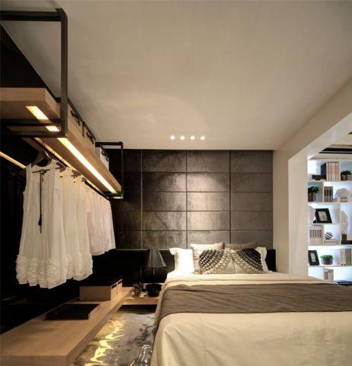 卧室开放式衣柜设计效果图