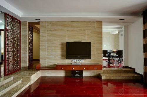 简约风格红色地板装修
