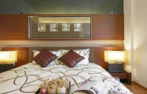 现代简约风格卧室背景墙装饰设计