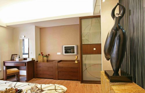 新中式风格卧室梳妆台效果图