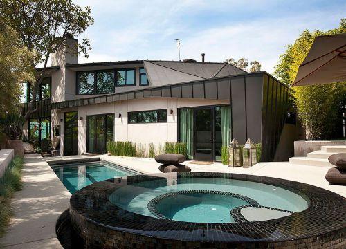 小别墅花园泳池效果图