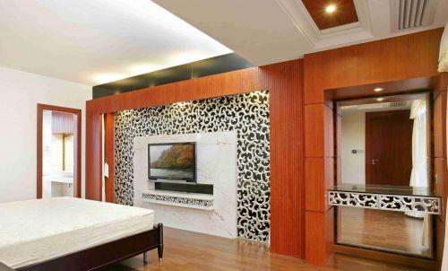 时尚混搭风格卧室电视背景墙设计