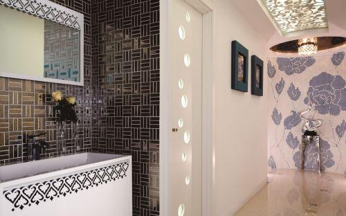 黑白简约卫生间墙砖贴图
