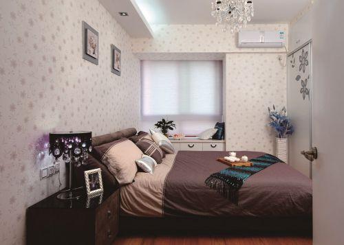 咖啡色卧室飘窗设计效果图