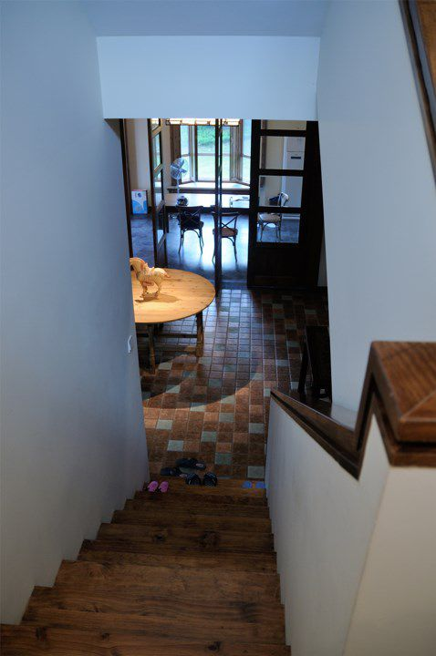 美式风格餐厅楼梯设计