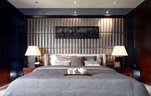 新古典卧室软包背景墙效果图