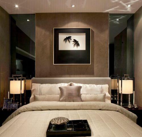 时尚简约风格卧室床头背景墙设计