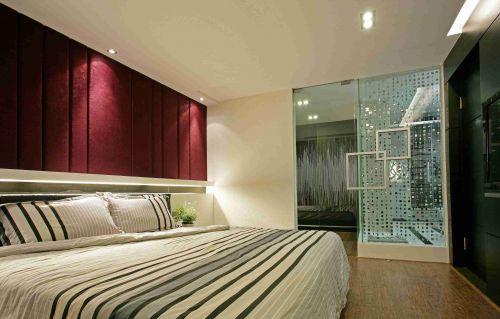 时尚混搭风格卧室背景墙装饰效果图
