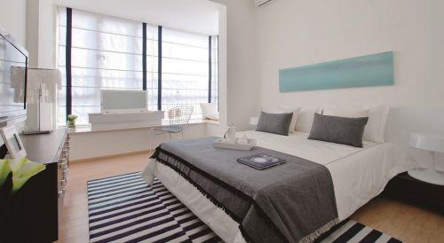 简约时尚卧室飘窗装修效果图