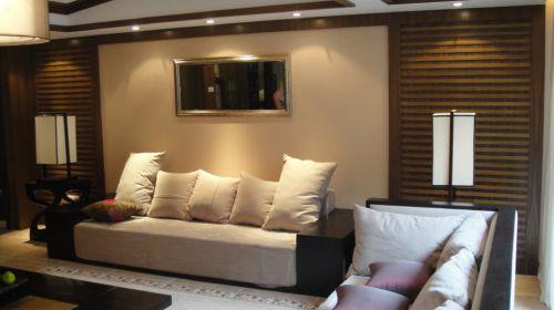 灰色的简约客厅装潢