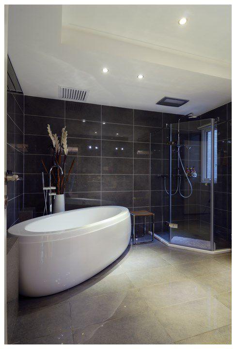 灰色简约卫浴设计