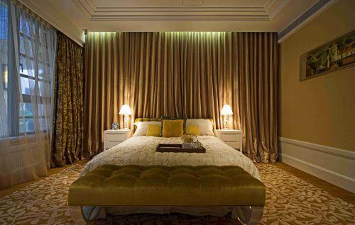 简欧风格卧室窗帘装饰设计效果图