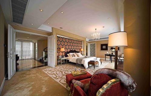 欧式古典别墅卧室吊顶装修设计