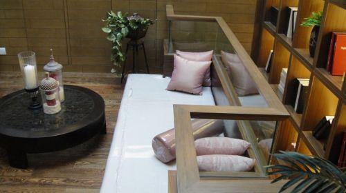 新中式风格书房休闲区装修