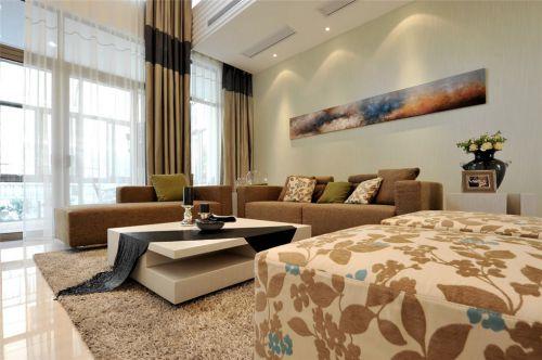 时尚简约复式房装修窗帘设计
