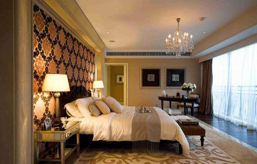 古典欧式风格卧室背景墙装饰案例
