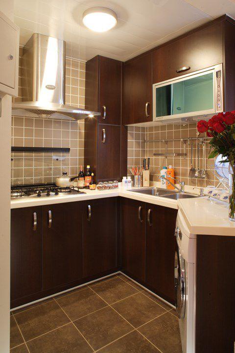 咖啡色的中式风格厨房装修