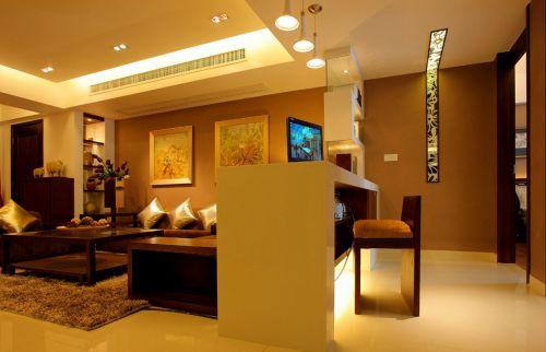 新中式风格客厅吧台装修效果图