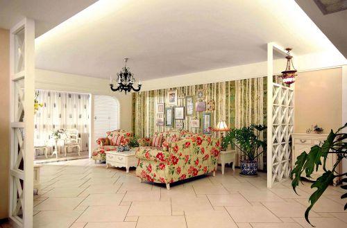 恬静田园客厅照片背景墙装修设计