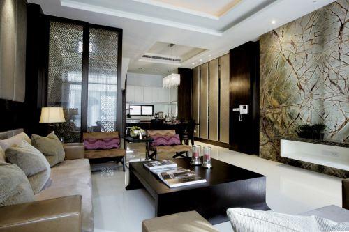 黑色新中式客厅装修案例